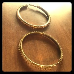 BNWT FAKE GOLD HOOPS